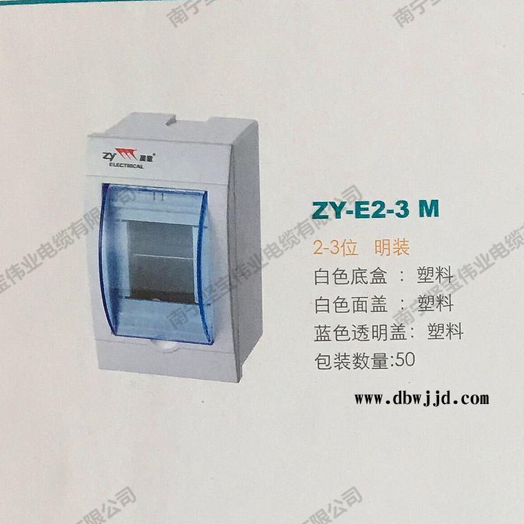 展业配电箱E款 全塑料 2~3位 明装-3.10