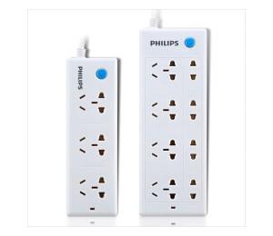 飞利浦(PHILIPS)8位1.8米+3位1.8米特价套装插-源青五金机电