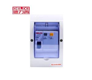 德力西2p漏电保护器32 家用1p空气开关小型断路器空调63a套装带 漏电-皖淅电气