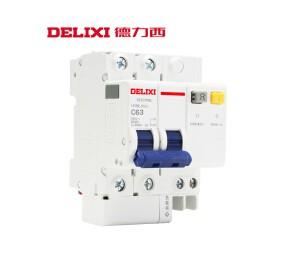 德力西空气开关带漏电保护器HDBELE 100A漏电开关 三相-四线触电保安器家用-皖淅电气