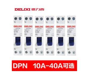 德力西双进双出断路器空开 DPN单极双线家用空气开关短路过载保护 1P+N 16A-皖淅电气