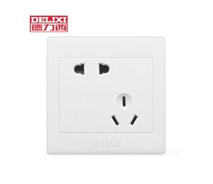 德力西开关插座面板 10A错位五孔插座5孔墙壁电源插座-皖淅电气