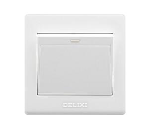 德力西(DELIXI)开关插座面板 单开一开单控 雅白系列-皖淅电气设备