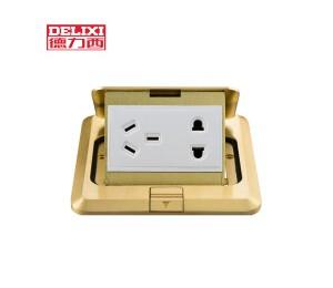德力西开关插座 铜地插五孔插座弹起式防水地板插座-皖淅电气